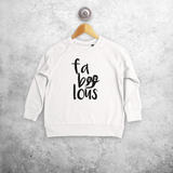 'Fa-boo-lous' kids sweater