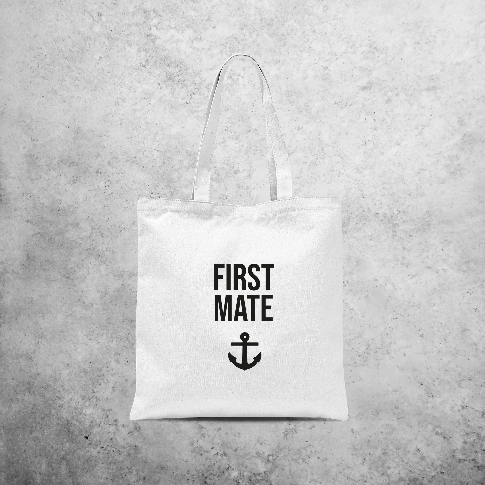 'First mate' tote bag