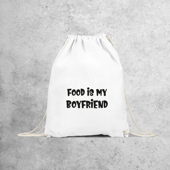 'Food is my boyfriend' backpack