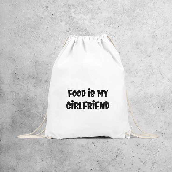 'Food is my girlfriend' backpack