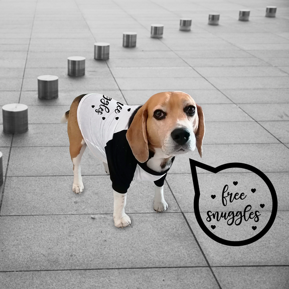 'Free snuggles' dog shirt