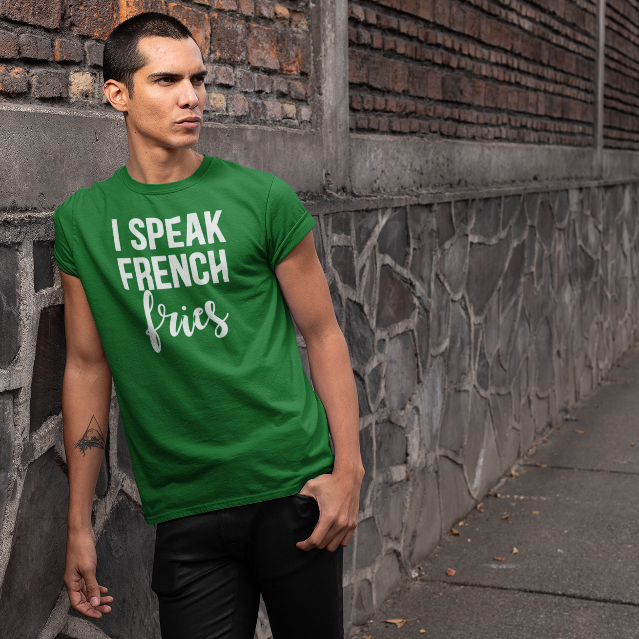 'I speak french fries' adult shirt