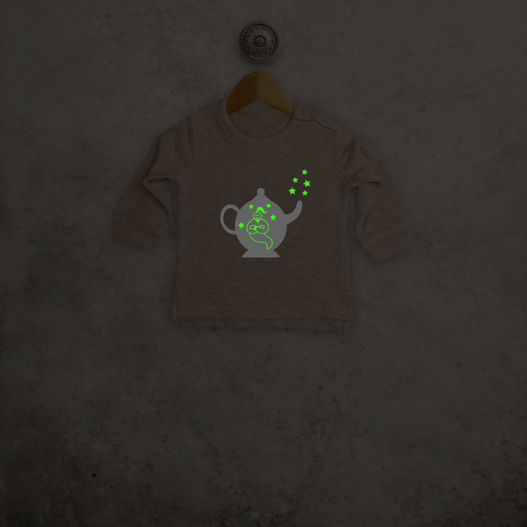 Genie in bottle glow in the dark baby sweater