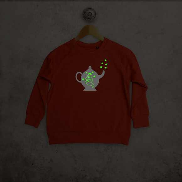 Genie in bottle glow in the dark kids sweater