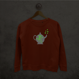Genie in bottle glow in the dark sweater