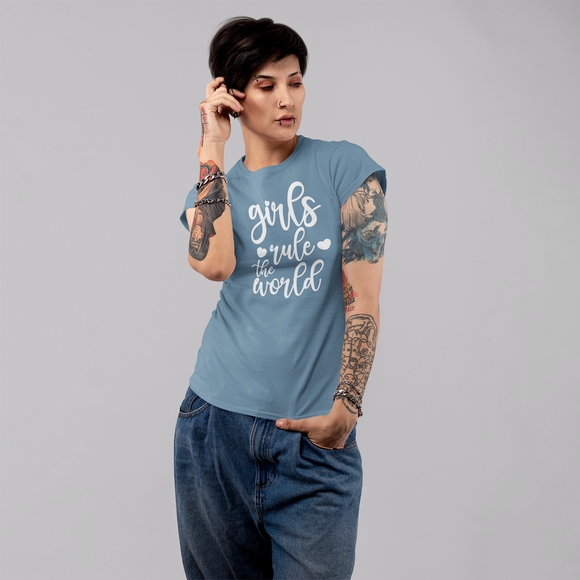 'Girls rule the world' adult shirt