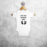 'Keep your footprint small' baby shortsleeve bodysuit