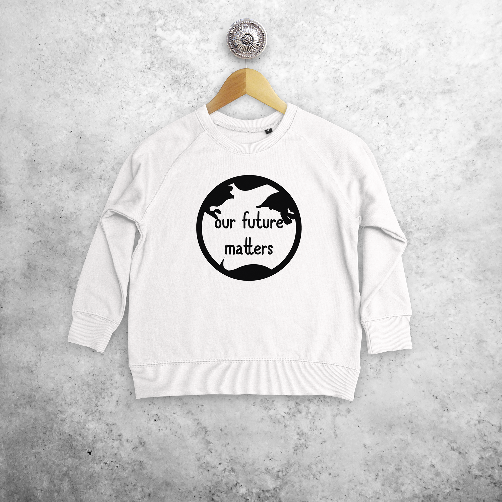 'Our future matters' kids sweater