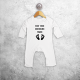 'Keep your footprint small' baby romper