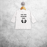 'Keep your footprint small' baby longsleeve shirt