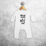 'Global warming is not cool' baby romper