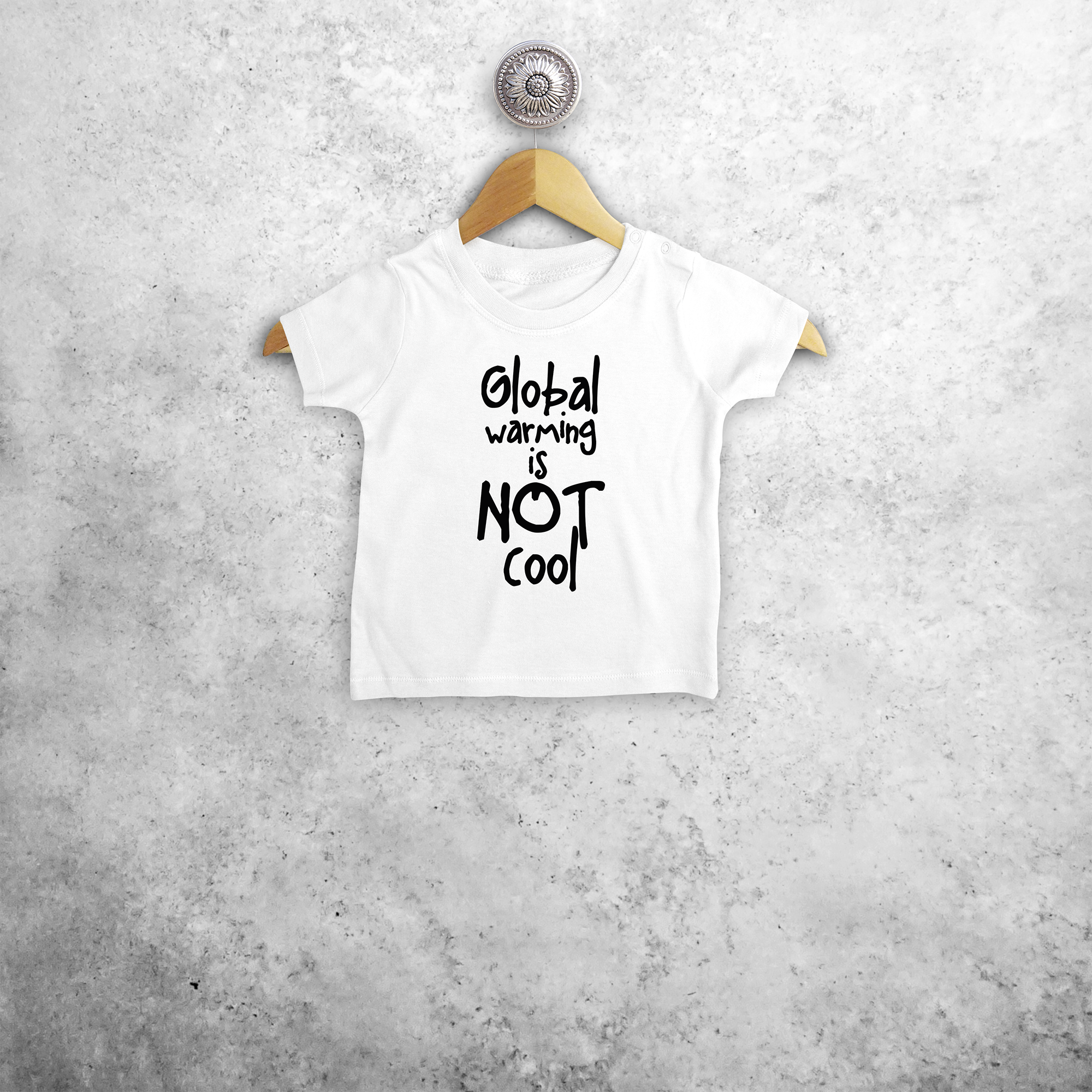 'Global warming is not cool' baby shortsleeve shirt