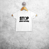 'Stop global warming' baby shortsleeve shirt