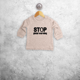 'Stop global warming' baby sweater
