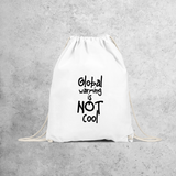 'Global warming is not cool' backpack