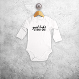 'Good looks - Bad habits' baby longsleeve bodysuit
