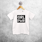 'GRL PWR' kids shortsleeve shirt