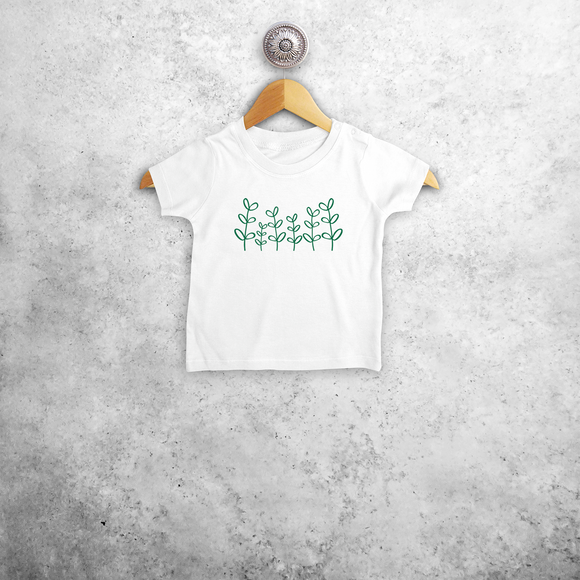 Green plants baby shortsleeve shirt