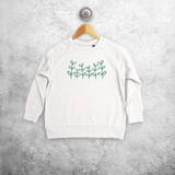 Green plants kids sweater