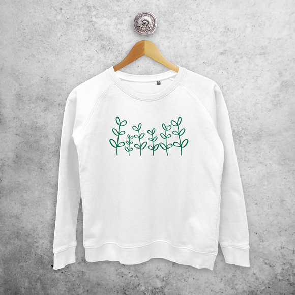 Green plants sweater