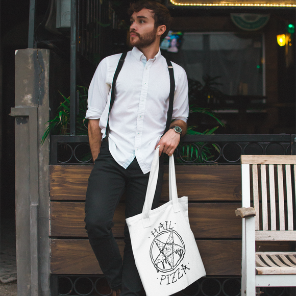 'Hail pizza' tote bag