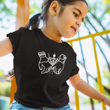 Holding hands kids shortsleeve shirt