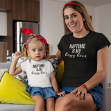 'Naptime is my happy hour' kids shortsleeve shirt