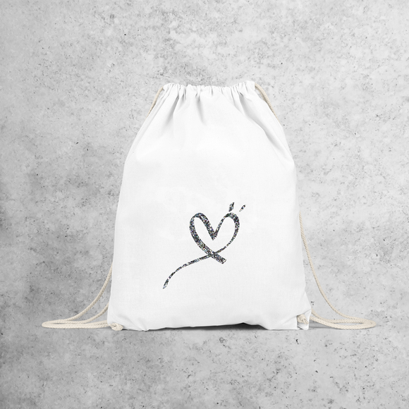 Glitter heart backpack