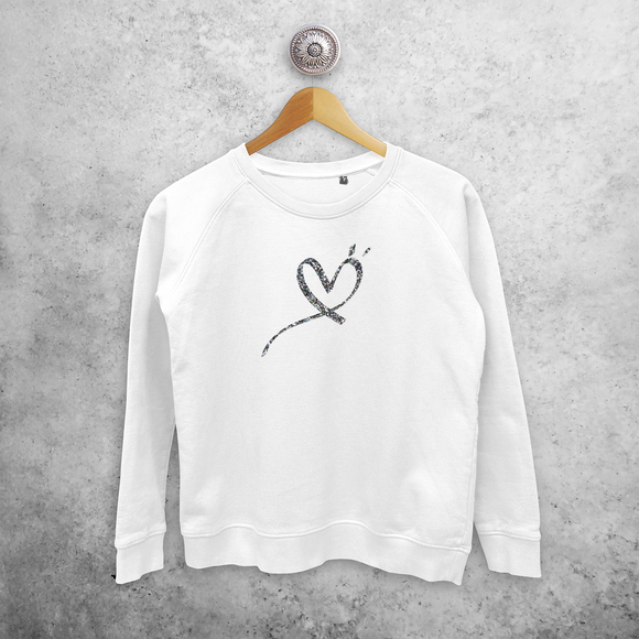 Glitter heart sweater