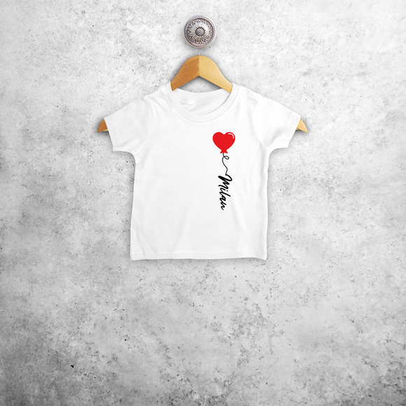Heart balloon baby shortsleeve shirt