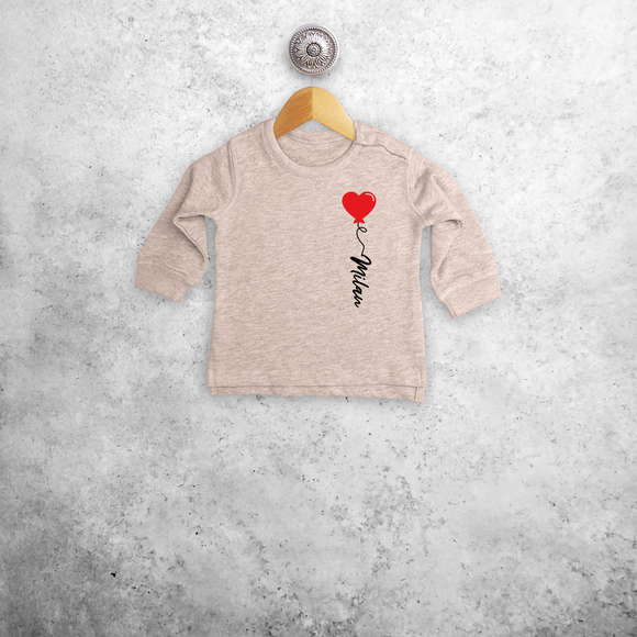 Heart balloon baby sweater