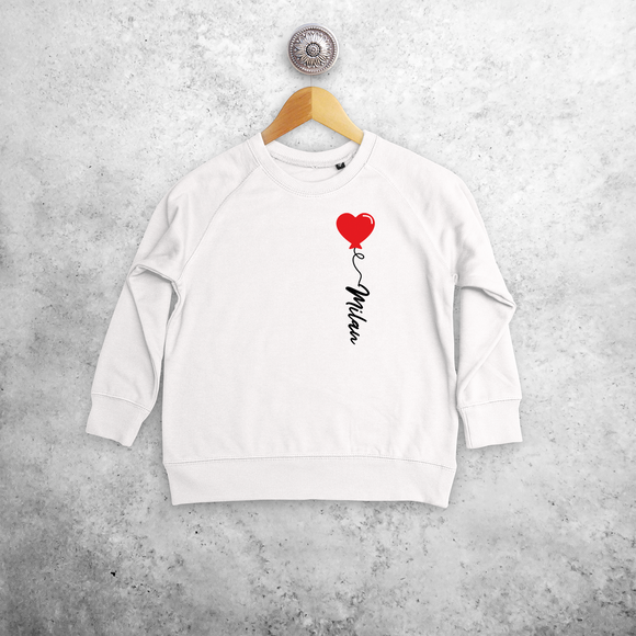Heart balloon kids sweater