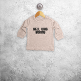 'Hell was boring' baby sweater