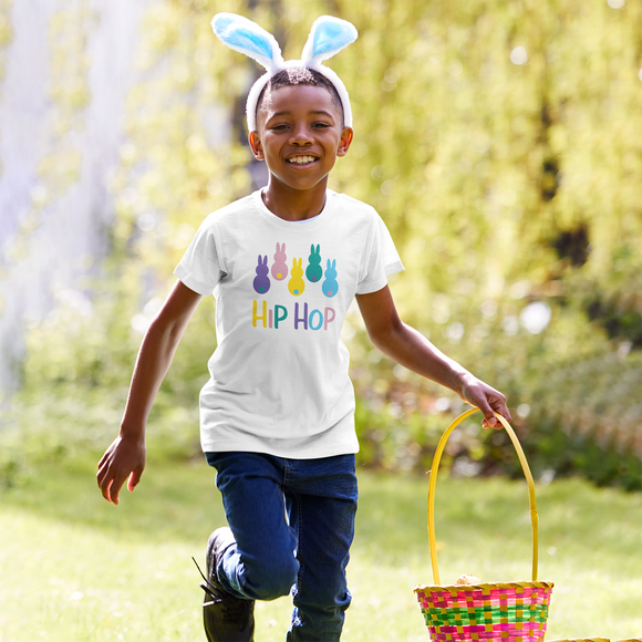 'Hip hop' bunnies kids shortsleeve shirt