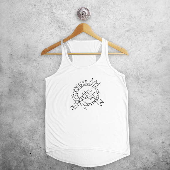 'Homesick' ship tank top