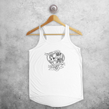 'Hopeless romantic' tank top
