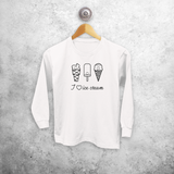 Ice cream kids longsleeve shirt