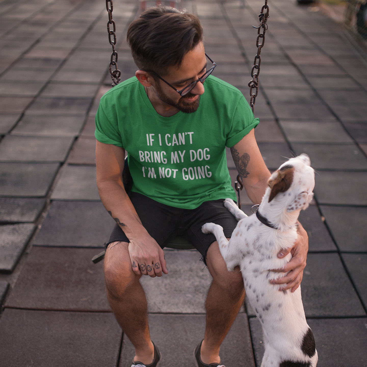 'If I can't bring my dog, I'm not going' adult shirt