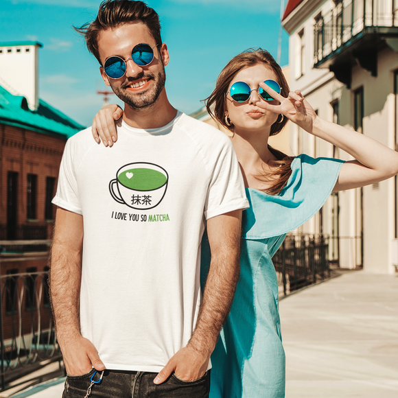 'I love you so matcha' volwassene shirt