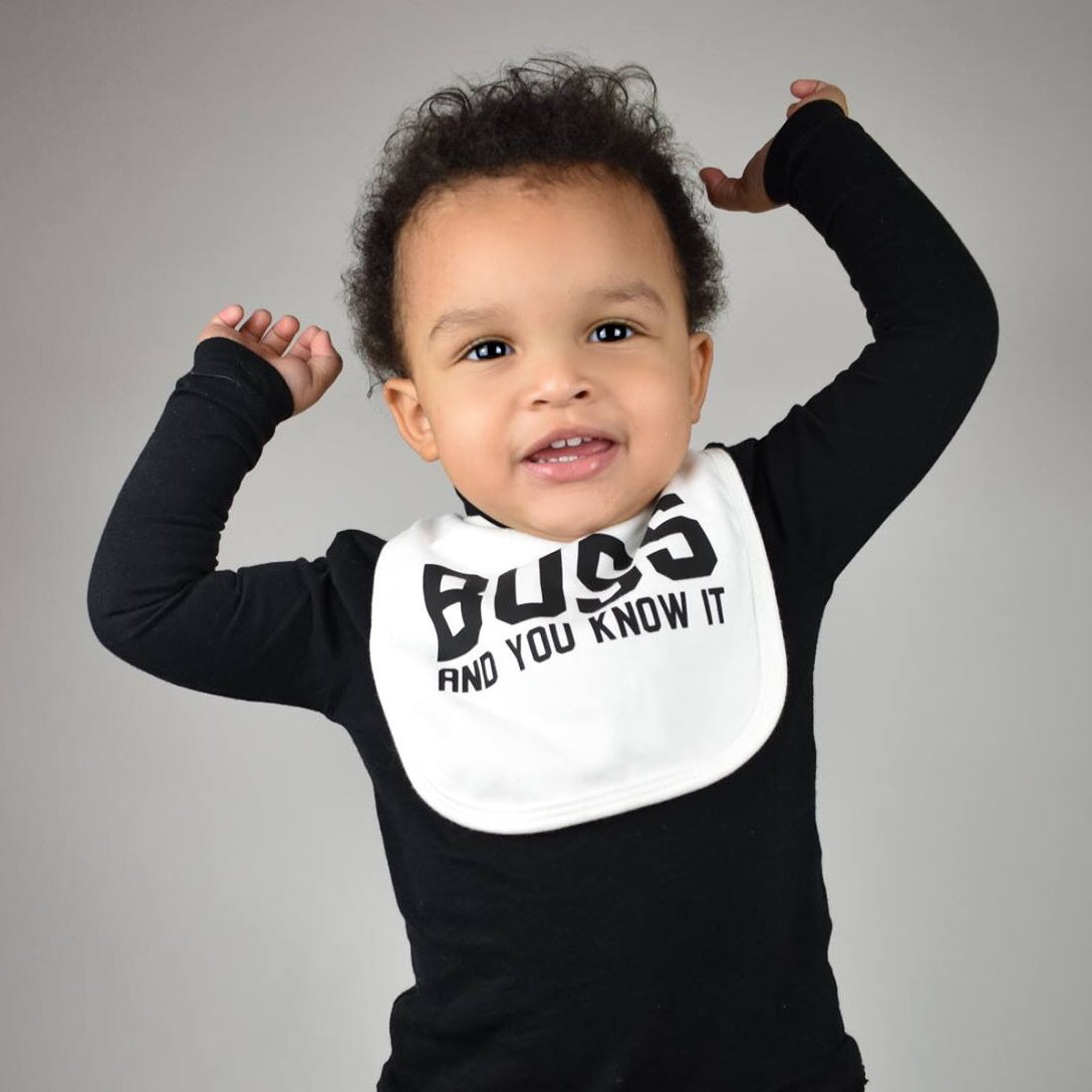 'Boss and you know it' baby bib