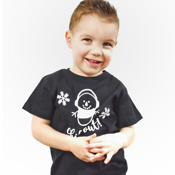 'Chill out' kids shortsleeve shirt