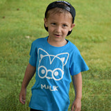 Fox with glasses kids shortsleeve shirt