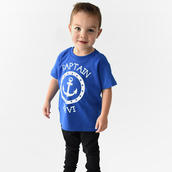 'Captain' kids shortsleeve shirt