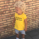 'Rule breaker / Trouble maker' kids shortsleeve shirt