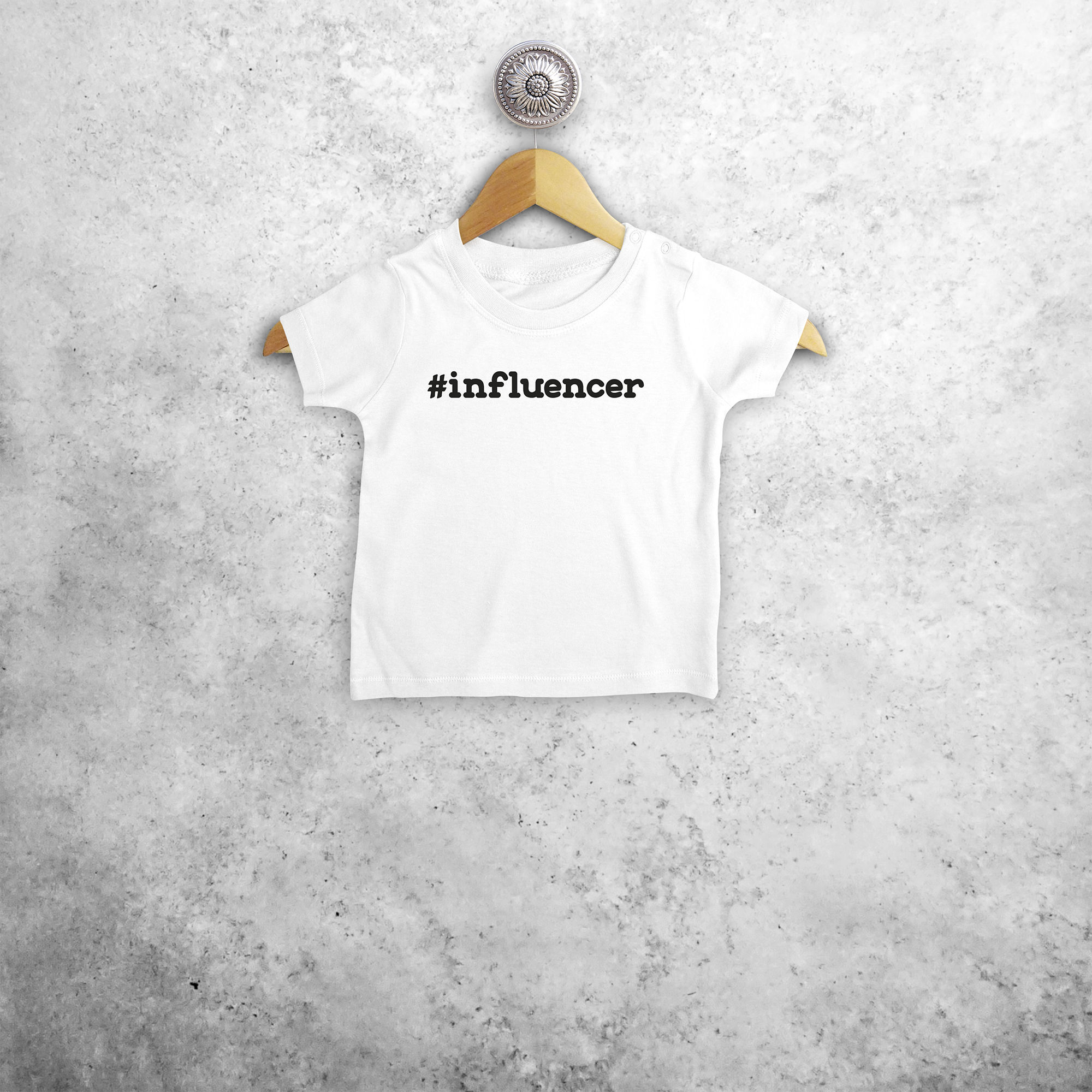 '#influencer' baby shortsleeve shirt