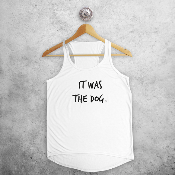 'It was the dog' tank top