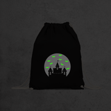Castle and bats glow in the dark backpack