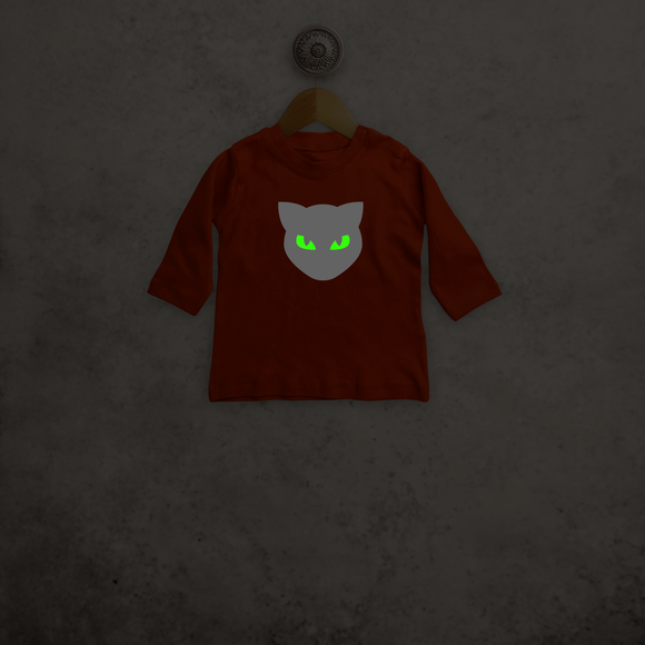Cat glow in the dark baby longsleeve shirt