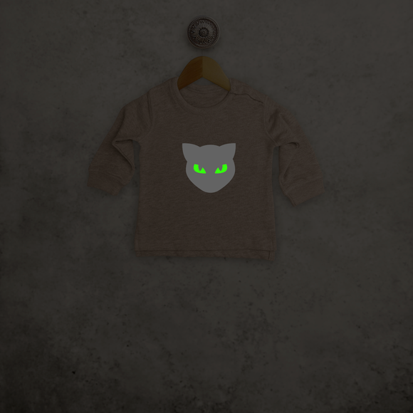 Cat glow in the dark baby sweater