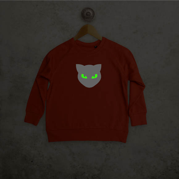 Cat glow in the dark kids sweater